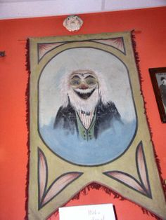 Wall Banner from Memory Lane Arcade Frankenmuth MI.  Fun house banner/penny arcade/amusements