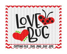 Love Bug Svg, Ladybug Svg, Dxf, Eps, Cut Files, Cutting Files For Silhouette Cameo, Cricut, Instant Download. by CutItUpYall on Etsy