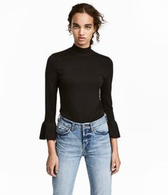 Black Sweater Rayon H&M