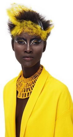 David Arnal's Colors Series Highlights Avant Garde Beauty Looks #raver #hair trendhunter.com