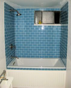 Sky Blue Glass Subway Tile