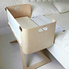 A co-sleeper is a baby bed that attaches to one side of an adult bed. It allows baby to remain close to the parents at night without actually being in the adult bed (which can be dangerous sometime… Girl Room, Baby Room, Child Room, Babies Nursery, Nursery Boy, Child Sleep, Nursery Ideas, Baby Co Sleeper, Bedside Crib