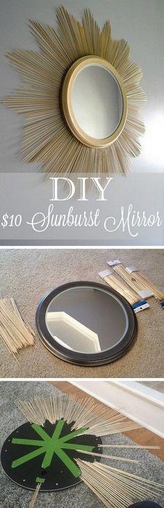 DIY sunburst mirror for $10