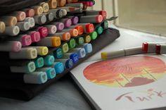 маркеры copic, sketch, artbook, copic marker