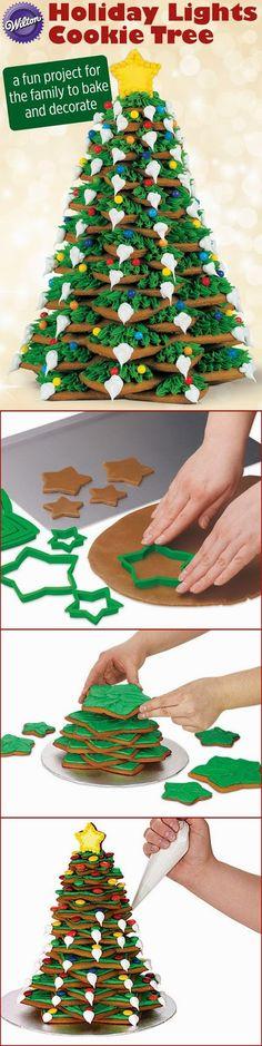Inspiracion Navidad: como se hacen los arboles de navidad de galletas