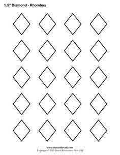 A printable diamond – rhombus shape sheet. Quilting Stencils, Quilting Tips, Quilting Designs, Shape Templates, Art Template, Diamond Template, Printable Shapes, Free Printable, Shape Crafts