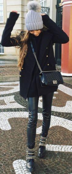 Maria Kragmann Biker Boots Fall Street Style Inspo