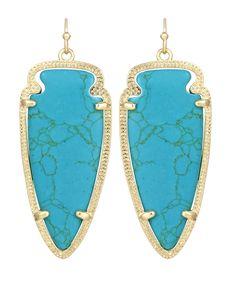natural stone Kendra Scott earrings