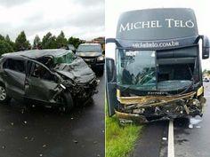 I LOVE MS OFICIAL - Movimento de amor por Mato Grosso do Sul: ônibus de MIchel Teló se envolve em acidente e trê...