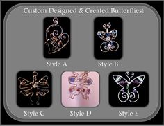 butterfly jewelrynature jewelrybutterfly by ArtistiCreationsRose
