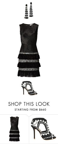 """""""chimera 6"""" by nojawrabbit ❤ liked on Polyvore featuring Sophia Webster and Oscar de la Renta"""