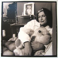 """Portrait of Sylvia Rivera posing in front of her altar to Marsha P. Johnson by Valerie Shaff, ca. 2000 """" In the early Sylvia Rivera and Marsha P. Johnson co-founded. Lgbt, Sylvia Rivera, Stonewall Riots, Corpus, Gender Nonconforming, Transgender People, Social Services, Oppression, Ladies Day"""