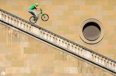 Fabio Wibmer at Residenz stone rail, Munich in Munich, Germany - photo by Big-Col - Pinkbike