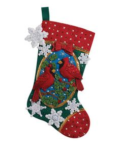 Take a look at this Cardinals Stocking Embroidery Kit by Bucilla on #zulily today!