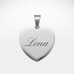 Schöner Schmuck wird immer gerne genommen - vor allem als Liebessymbol. Unsere Kette mit Herz Anhänger mit Namen graviert - personalisiert aus Edelstahl ist ein schönes Geschenk für diesen ganz besonderen Menschen.