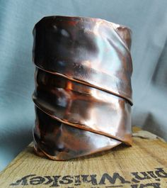 Fold Formed Copper Cuff Bracelet. $65.00, via Etsy.