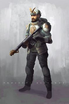 ArtStation - Project: Alliance - Human,   Dungeons and Dragons // 21st century soldier