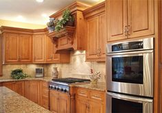Kraftmaid Ginger Glaze Cabinets With Granite Countertops