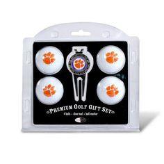 Clemson University Tigers Golf Balls & Divot Tool Set