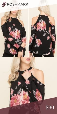 Spring Cold Shoulder Floral Sweater Top Brand-New (arrived w/out tags from an online boutique). Never worn!!! Spring Cold Shoulder Floral Top  By: 143 Story Size: Medium (tts) This lightweight sweater is a MUST have for spring, with the flirty floral print and cold shoulder detail you can't go wrong!! **Ships same day if ordered by 1pm EST!! **Bundle for discount!! 143 Story Tops