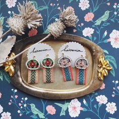 Embroidery Art, Sewing, Earrings, Cute, Fabric, Projects, Handmade, Inspiration, Accessories