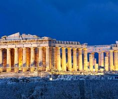 Parthenon at night on Acropolis at Athens Greece. Free art print of Athens Acropolis Parthenon. Ancient Ruins, Ancient Greece, Ancient Mysteries, Architecture Antique, Art Et Architecture, Greece Architecture, Vatican Rome, Greece Tours, Greece Travel