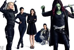 Scarlett Johansson as Black Widow, Cobie Smulders as Maria Hill, Linda Cardellini as Laura Barton, Tessa Thompson as Valkyrie, and Zoe Saldana as Gamora.