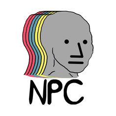 Shop NPC Wojak Meme npc meme t-shirts designed by Barnyardy as well as other npc meme merchandise at TeePublic. Real Memes, Funny Memes, Cartoon Memes, Cringe, Dumb And Dumber, Simple Designs, Illustration Art, Backgrounds, Artsy