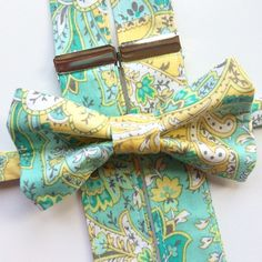 Pretty paisley for #prom. Find something perfect for your special occasion.     #etsy #etsyshop #etsyseller #photo #photooftheday #ootd #aqua #mint #yellow #gray #pretty #cute #accessories #fashion #style #spring #easter #wedding #boy #baby #bowtie #men #dapper #gentleman #mensfashion #menswear #kids #shopping #love