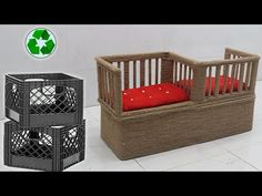 Jute Crafts, Table Storage, Outdoor Furniture, Outdoor Decor, Chair, Craft Ideas, Home Decor, Youtube, Decoration Home