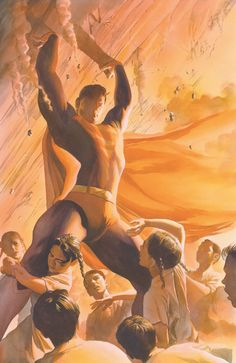 Superman by Alex Ross. Why does this make my heart swell? Mundo Superman, Superman Family, Superman Man Of Steel, Batman And Superman, Superman Stuff, Dc Heroes, Comic Book Heroes, Comic Books Art, Alex Ross
