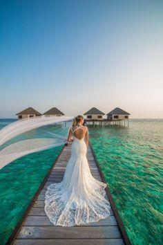 Destination Wedding- Why Choose Maldives? Source by phaisalphotos wedding Elope Wedding, Wedding Vows, Destination Wedding, Dream Wedding, Wedding Dresses, Elopement Wedding, Maldives Wedding, Maldives Beach, Maldives Trip