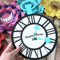 """""""OH, MY POOR WATCH!! OH, MY WHEELS! AND SPRINGS! But-but-but-but-but-but-"""" - 🐰⏱ Alicia Wonderland, Forever Flowers, Paper Flowers, Wheels, Watch, Instagram, Decorations, Clock, Bracelet Watch"""