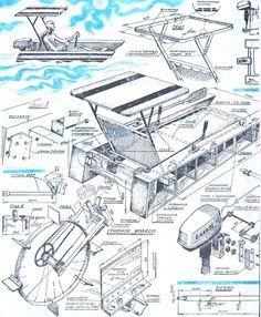 Катамаран сборно-разборный, своими руками Model Cars Building, Boat Building Plans, Boat Plans, Raft Boat, Pontoon Boat, Hydrofoil Surfboard, Cruiser Boat, Floating Boat, Cool Boats