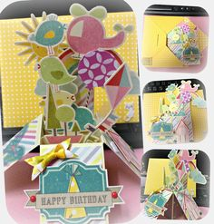 Card in a box  Using: Embellishment- Fine & Sunny from Kaisercraft; Party day from Crate Paper  Handmade by Jodie Hui