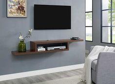 Image 3 of 7 Wall Mount Tv Shelf, Wall Shelves, Wall Mounted Media Console, Media Shelf, Tv Regal, Shelves Under Tv, Floating Shelf Under Tv, Iphone 6s Plus, Martin Furniture