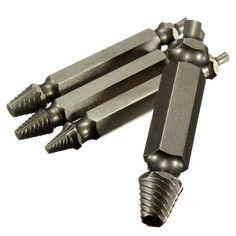 Sólo €4.96, compra mejor 4pcs tornillo extractor conjunto brocas guía roto removedor perno dañado venta en línea en pricio del wholesale. Almacén de EE.UU./UE.