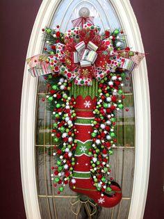 Christmas Wreath Door Wreath Teardrop