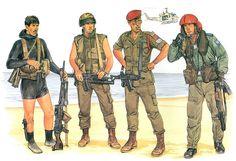 • Naval Commando MAGist • Paratrooper Grenadier • Sergeant/Instructor Paratrooper • Aeromedical Evacuation Unit Officer