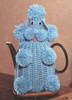 Poodle Tea Cozy free crochet pattern on All Free Crochet at http://www.allfreecrochet.com/Kitchen-and-Dining/Poodle-Tea-Cozy