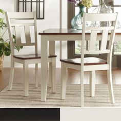 Infuse your dining room with rustic style using these Eli side chairs from Tribecca Home. These chairs feature a Mission design that instantly adds warmth to your dining space. The supportive chair ba