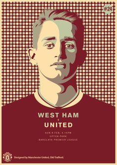 Match poster. West Ham United vs Manchester United, 8 February 2015. Designed by @manutd.