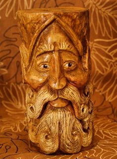 Wood Spirit Elf  Wood Carving by RiverOtterRustic on Etsy, $125.00