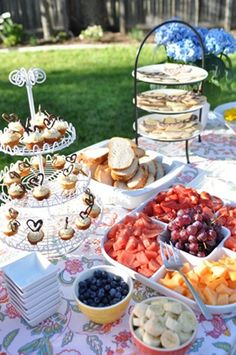 18ba51227bf7 36 Awesome Outdoor Bridal Shower Ideas