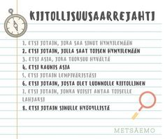 KIITOLLISUUSAARREJAHTI - Metsäemo Special Needs Teaching, Kids Schedule, Working With Children, Early Childhood Education, Self Development, Special Education, Preschool, Inspirational Quotes, Classroom