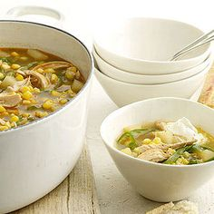 Chili Chicken and Vegetable Soup -- It's the best of both worlds: A lighter and faster take on chili.