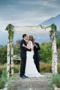 simple Chuppah, rustic garden wedding
