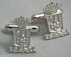 Sigma Phi Epsilon Crest Sterling Silver Cufflinks available in Good Things From Louisiana, an ebay store.