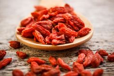 Let's eat Goji!  This amazing little superfruit contains natural anti-inflammatory, anti-bacterial and anti-fungal compounds. Their powerful antioxidant properties and polysaccharides help to boost the immune system. It's no wonder then, that in traditional Chinese medicine they are renowned for increasing strength and longevity.