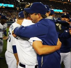 The last 2 pitchers to throw a no- hitter. Dodgers Girl, Dodgers Baseball, Perfect Game, Almost Perfect, Josh Beckett, Love My Boys, My Love, Clayton Kershaw, Dodger Blue